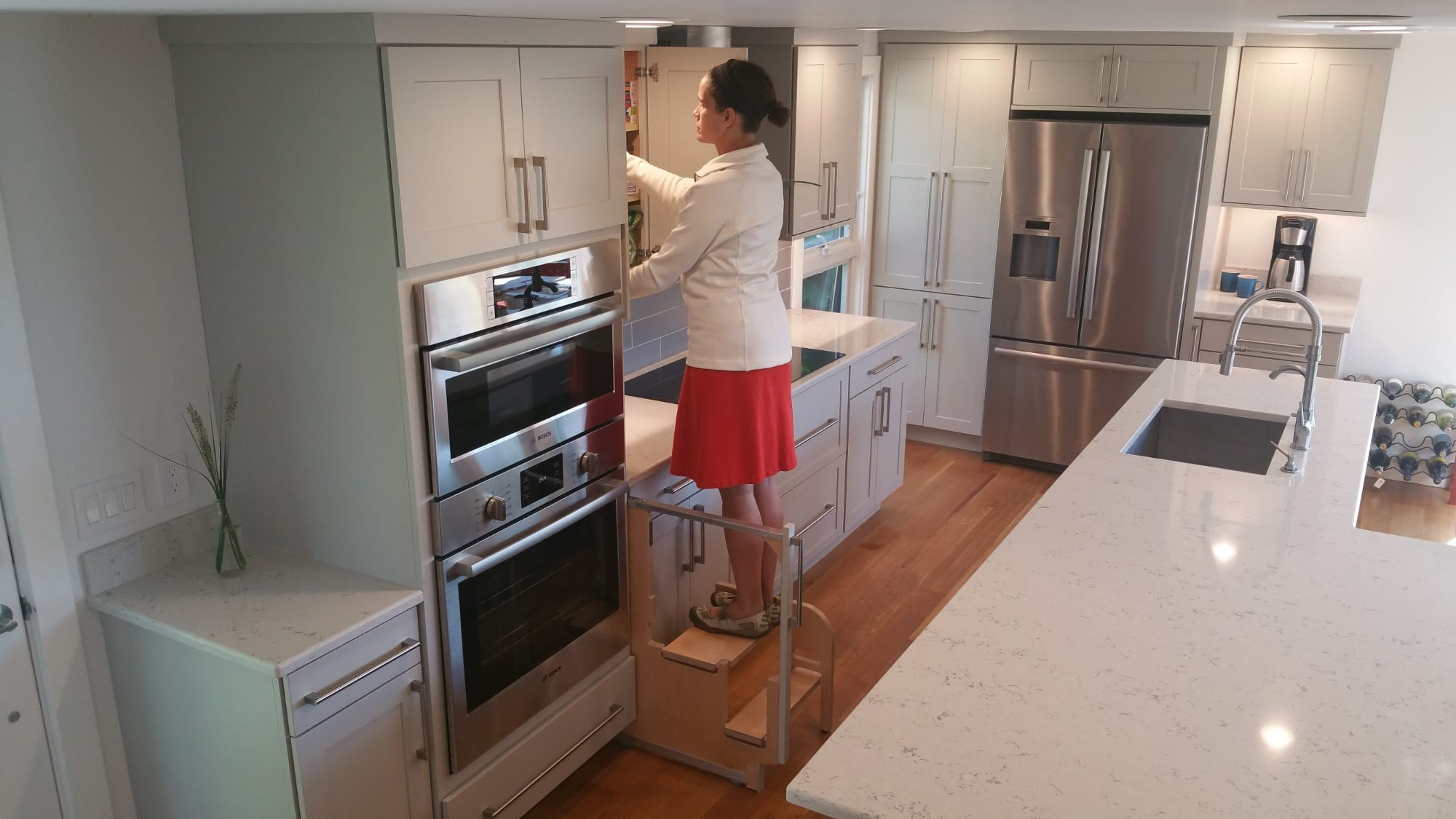 Step 180 Integrated Cabinet Step Stools Hideaway Solutions