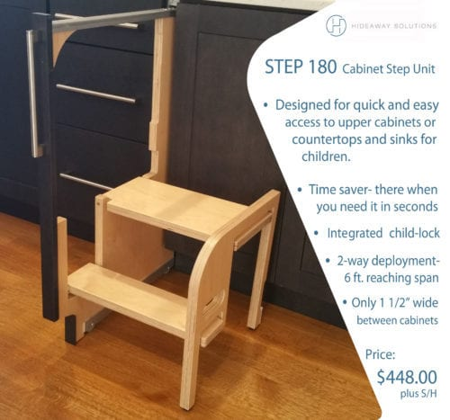Step 180 Cabinet Step Stool Hideaway Solutions