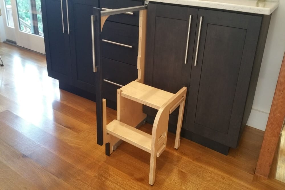 STEP 180 – Integrated Cabinet Step Stools - Hideaway Solutions